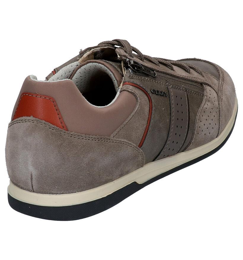 Geox Renan Chaussures à Lacets en Bleu en cuir (266681)