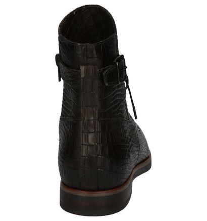 Donker Groene Boots met Rits/Veter Via Roma Katia in leer (205546)