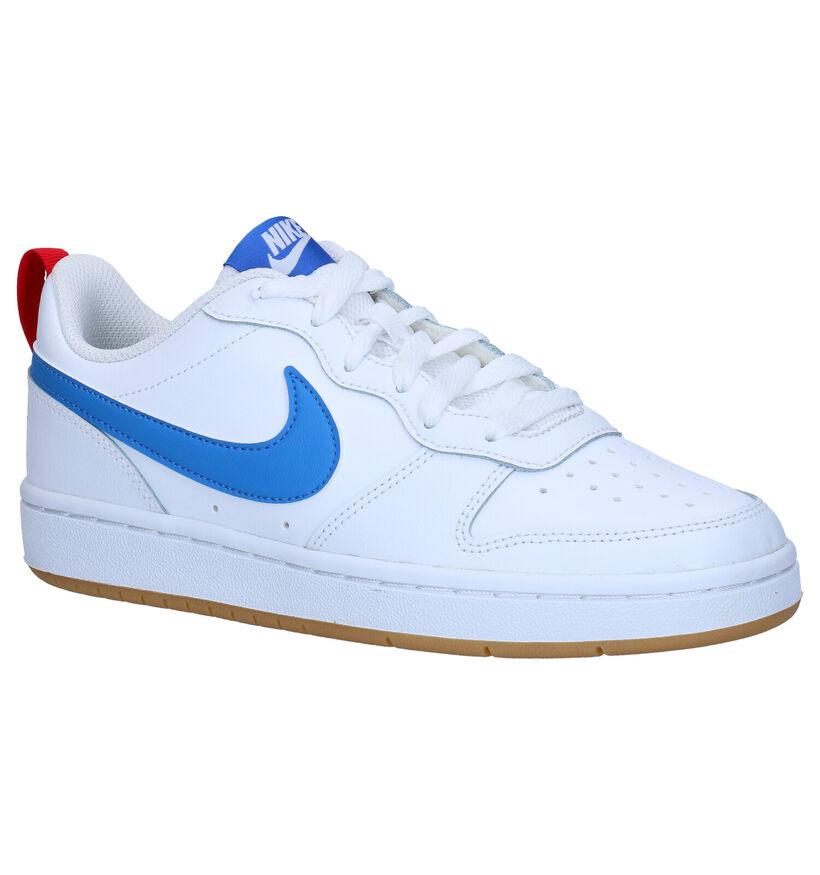 Nike Court Borough Baskets en Blanc en cuir (274595)