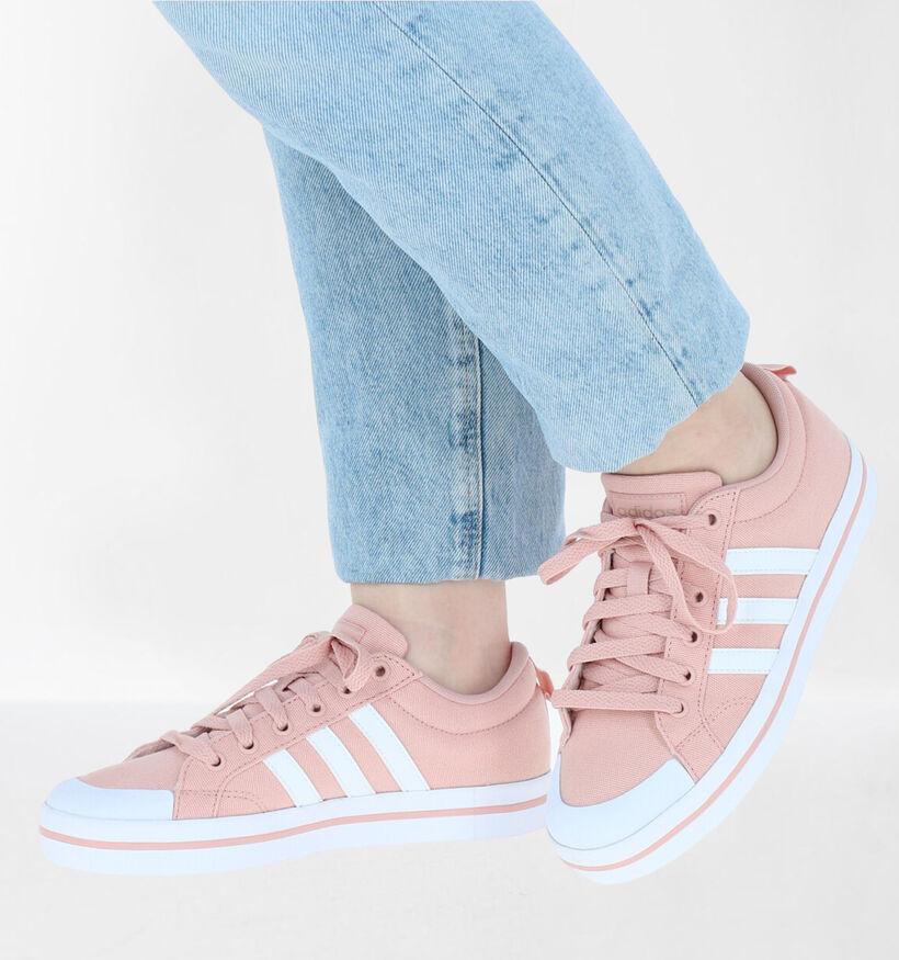 adidas Bravada Zwarte Sneakers in kunstleer (273049)