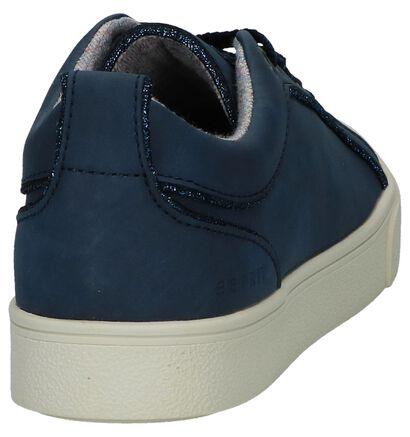 Esprit Donkerblauwe Geklede Sneakers Vegan in kunstleer (236950)