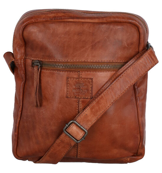 Bear Design Cognac Crossbody tas