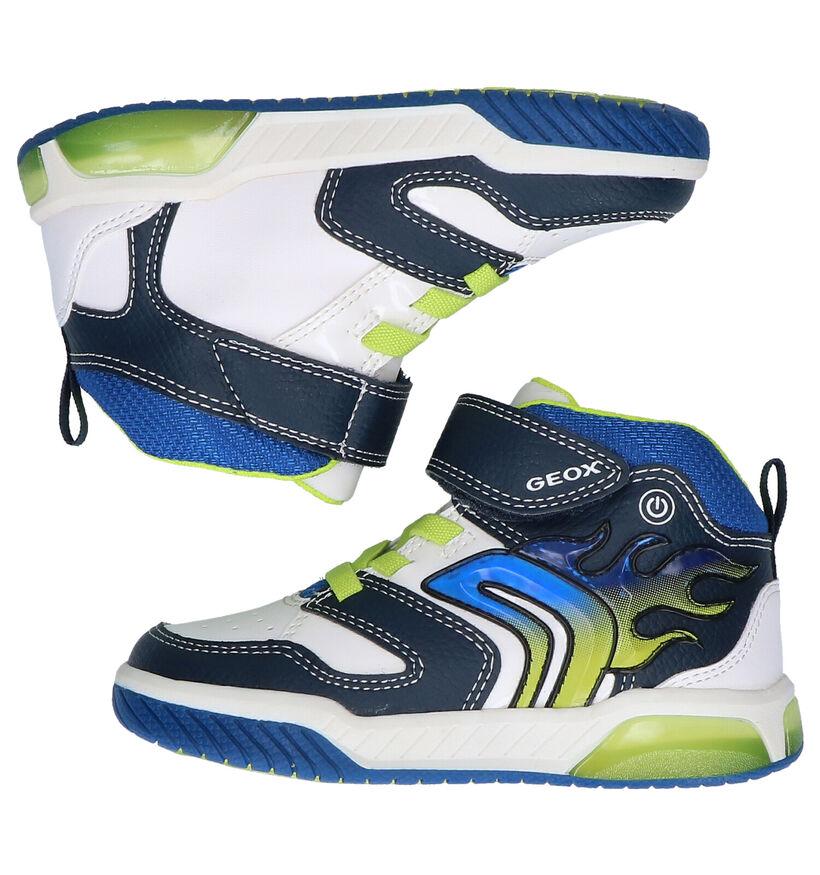 Geox Inek Zwarte Hoge Sneakers in kunstleer (288720)