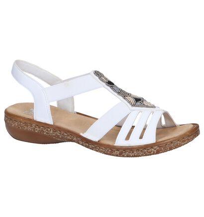 Rieker Sandales à talons en Blanc en simili cuir (246257)