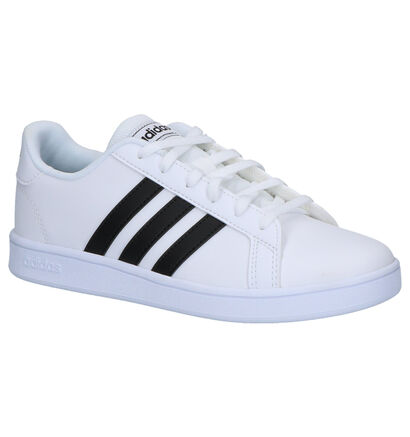 adidas Grand Court Zwarte Sneakers in imitatieleer (252544)