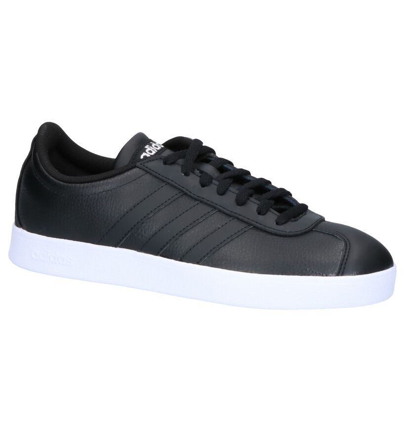 adidas VL Court 2.0 Baskets en Noir en cuir (252576)