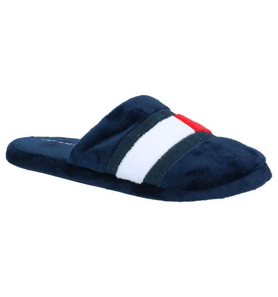 Tommy Hilfiger Pantoufles ouvertes en Bleu foncé