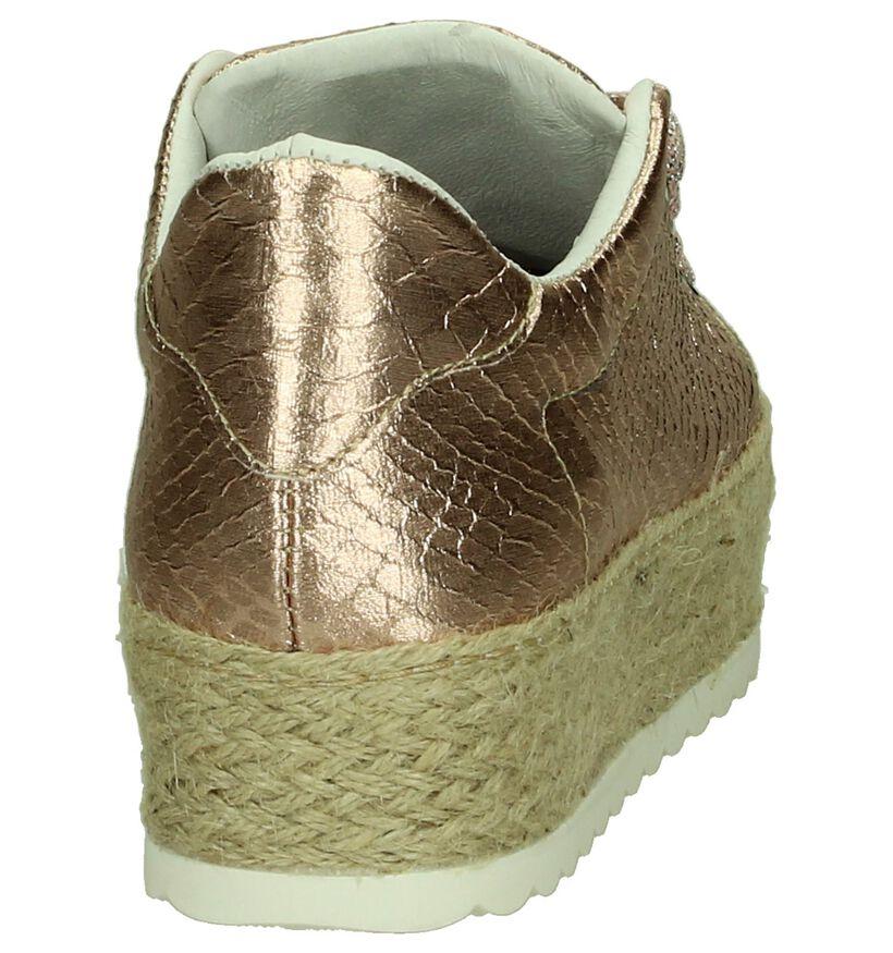 Youh! Chaussures à lacets en Or rose en simili cuir (201260)