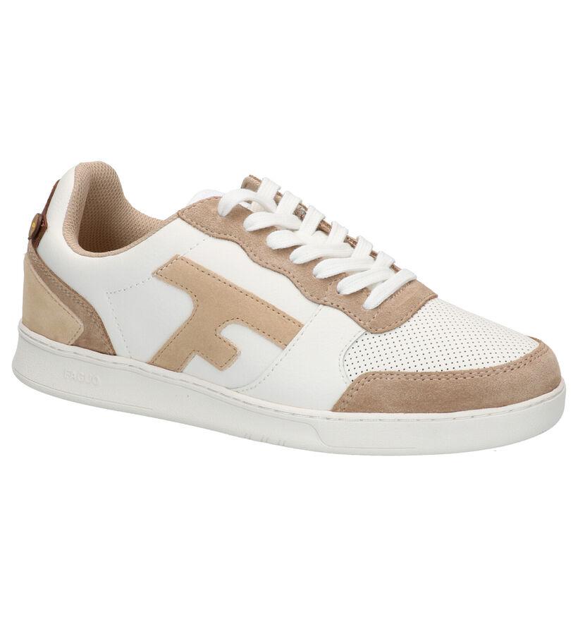 Faguo Hazel Witte Sneakers in leer (274850)