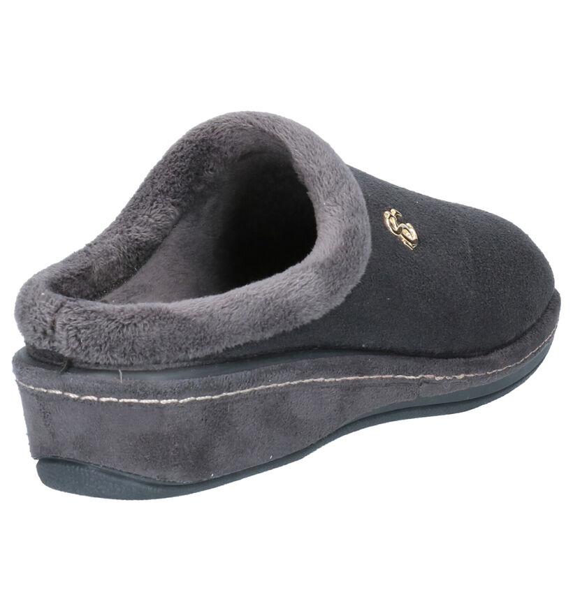 Scapa Grijze Pantoffels in stof (259190)