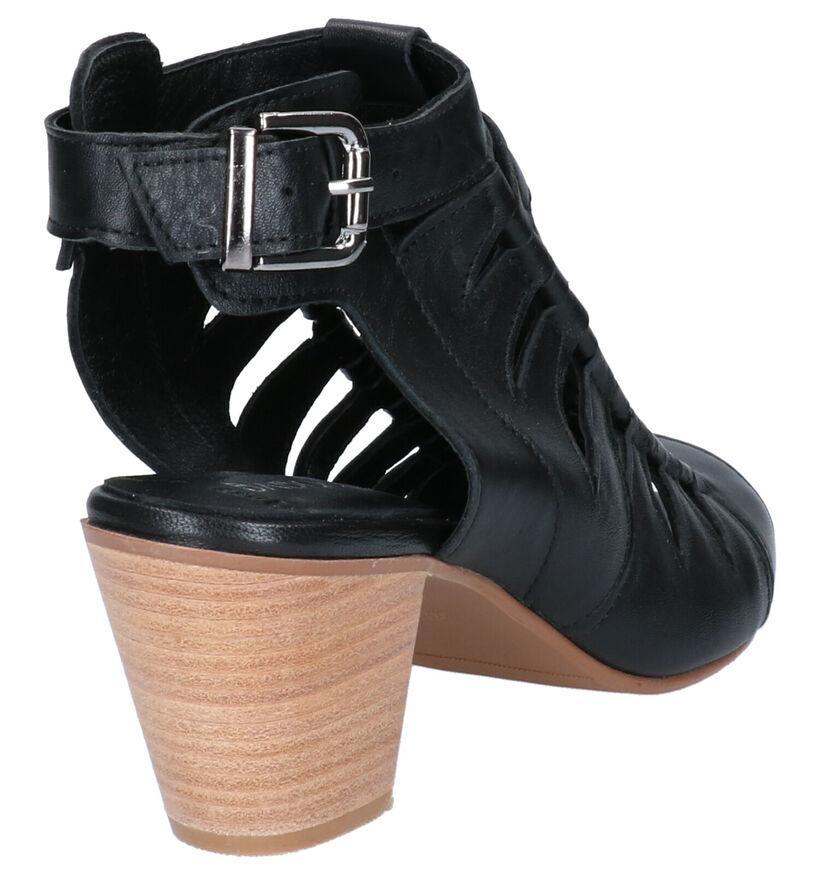 Baboos Sandales à talons en Noir en cuir (276062)