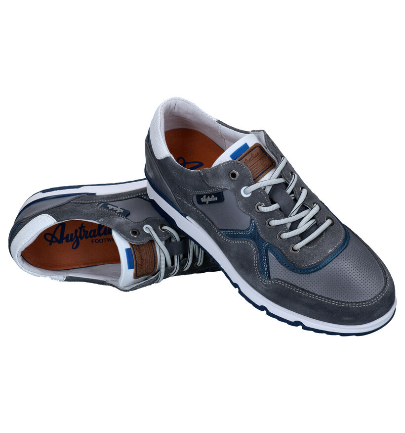 Australian Mazoni Chaussures à lacets en Gris en cuir (289193)