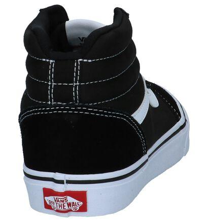 Vans Ward Hi Zwarte Skateschoenen in daim (253466)