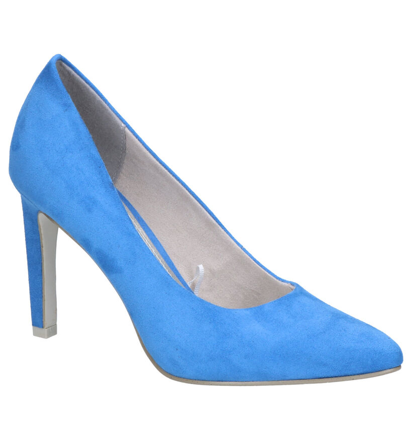 Marco Tozzi Blauwe Pumps in stof (270656)