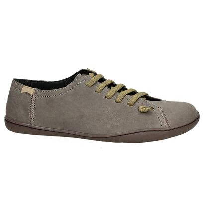 Taupe Camper Cami Instappers in leer (168848)