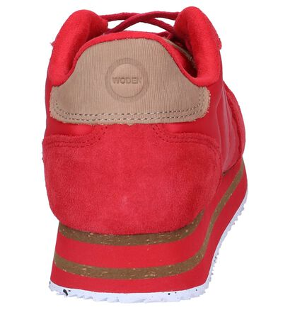 Woden Nora Zwarte Sneakers, Rood, pdp