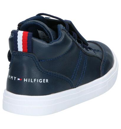 Tommy Hilfiger Baskets hautes en Bleu foncé en simili cuir (257339)