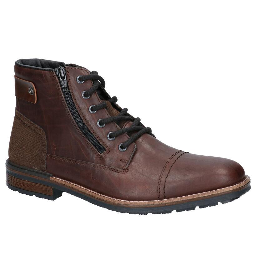 Rieker Chaussures hautes en Brun foncé en cuir (281825)