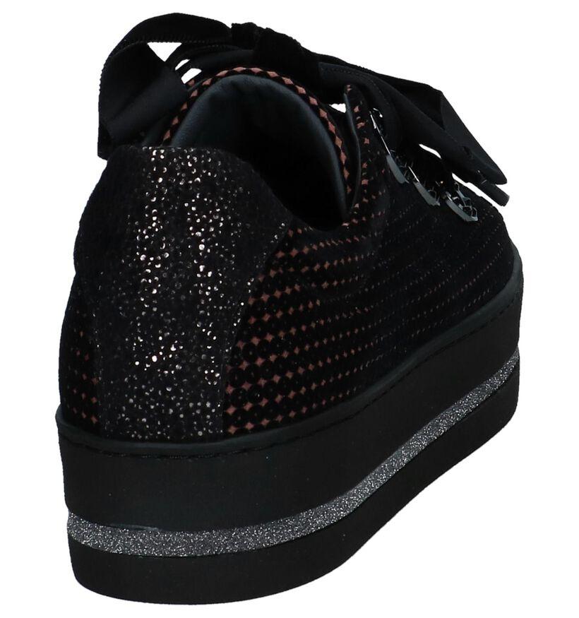 Maripé Chaussures à lacets en Noir en daim (230567)