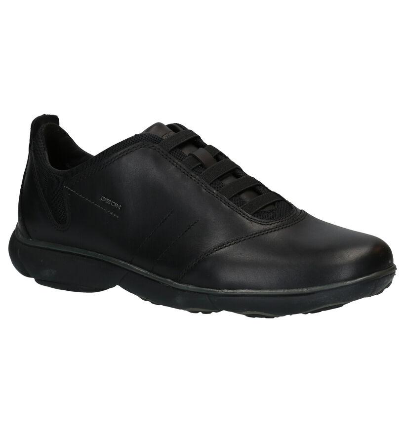 Geox Nebula Chaussures Slip-on en Noir en cuir (279088)