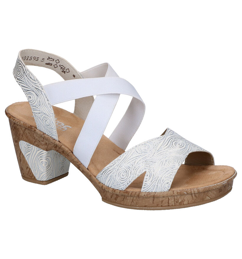 Rieker Witte Sandalen in kunstleer (271870)