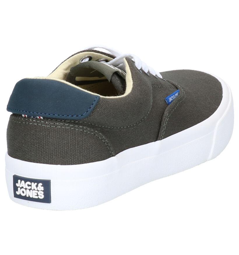 Jack & Jones Donkergrijze Sneakers in stof (268950)