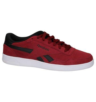 Lage Sportieve Sneakers Bordeaux Royal Techqu in stof (221716)
