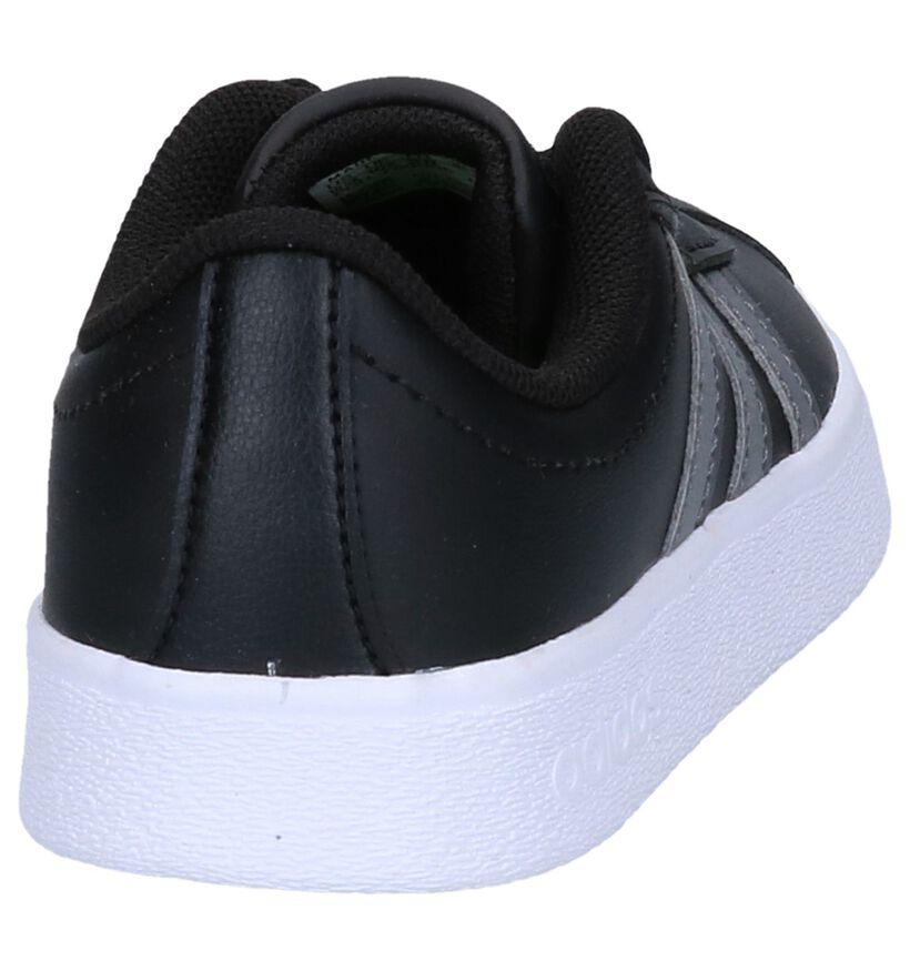 adidas VL Court 2.0 Baskets en Noir en simili cuir (264863)