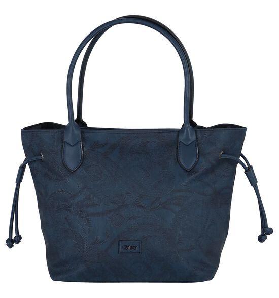 Donkerblauwe Shopper Gabor Granada Paisley