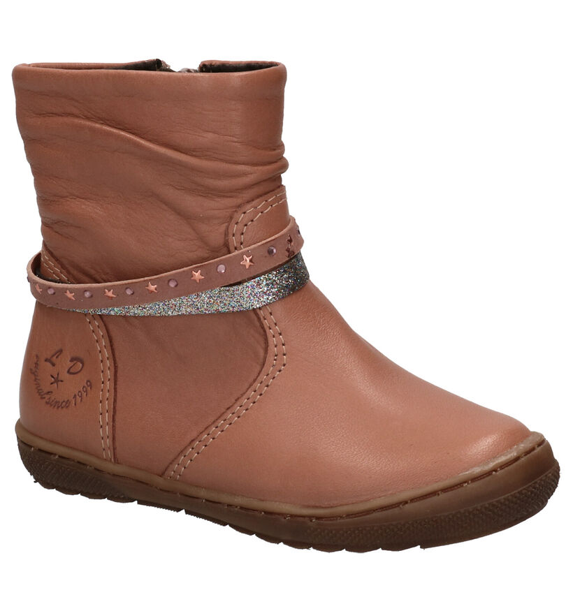 Little David Verona Chaussures hautes en Rose en cuir (261285)