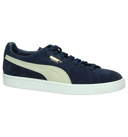 Blauwe Sneakers Puma Suede Classic in daim (199496)