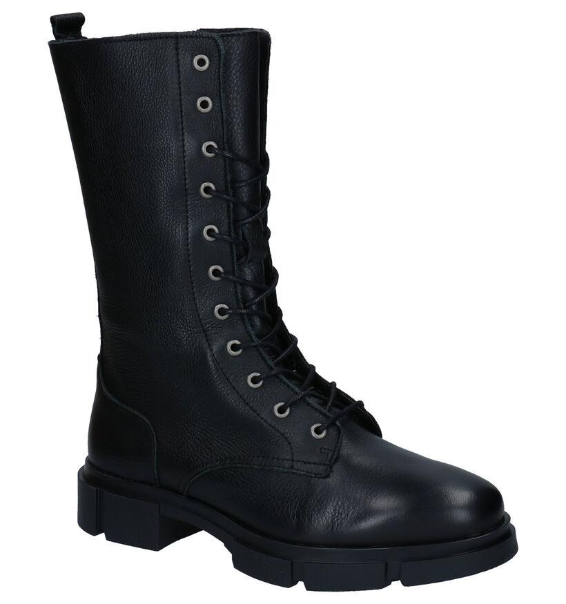 Via Limone Romy Zwarte Boots in leer (288545)