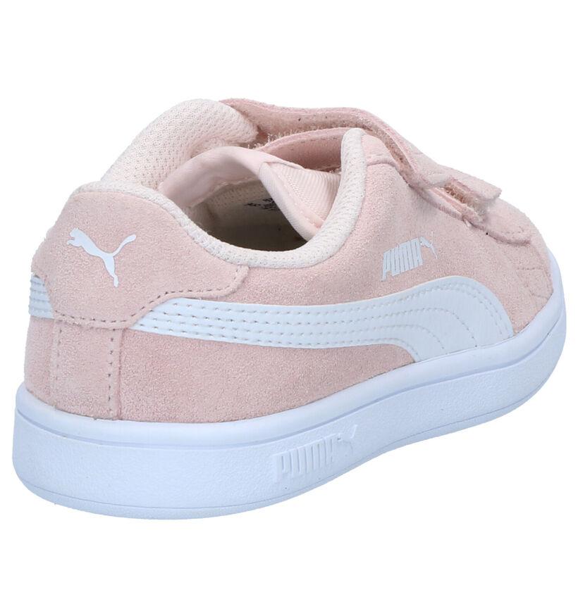 Puma Smash Baskets en Rose en daim (265636)