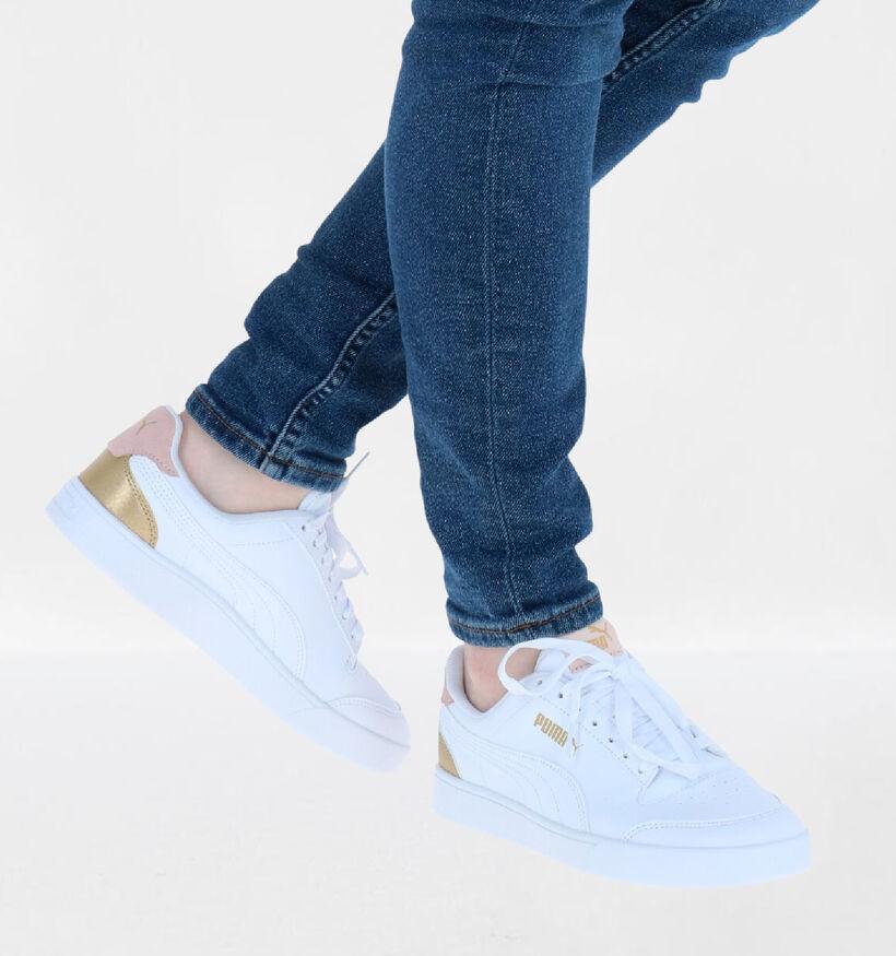 Puma Shuffle Witte Sneakers in kunstleer (288564)