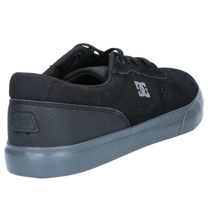 DC Shoes Switch Zwarte Skatesneakers in daim (263841)