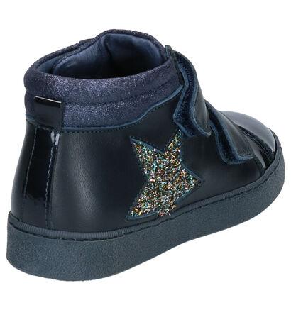 Stones and Bones Emata Chaussures hautes en Bleu en cuir (260383)