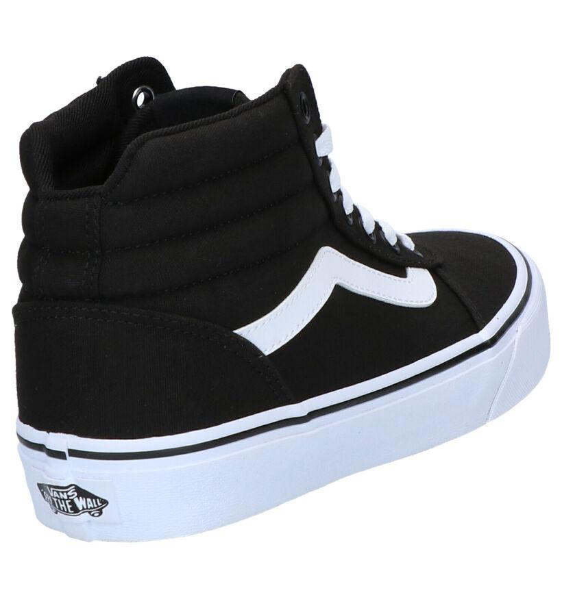 Vans Ward Hi Zwarte Sneakers in stof (264188)