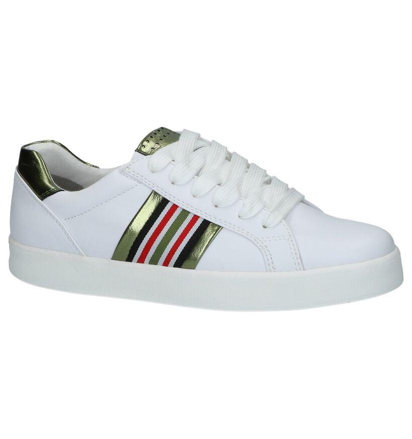 Witte Sneaker met Strepen Youh! By Torfs in kunstleer (238099)