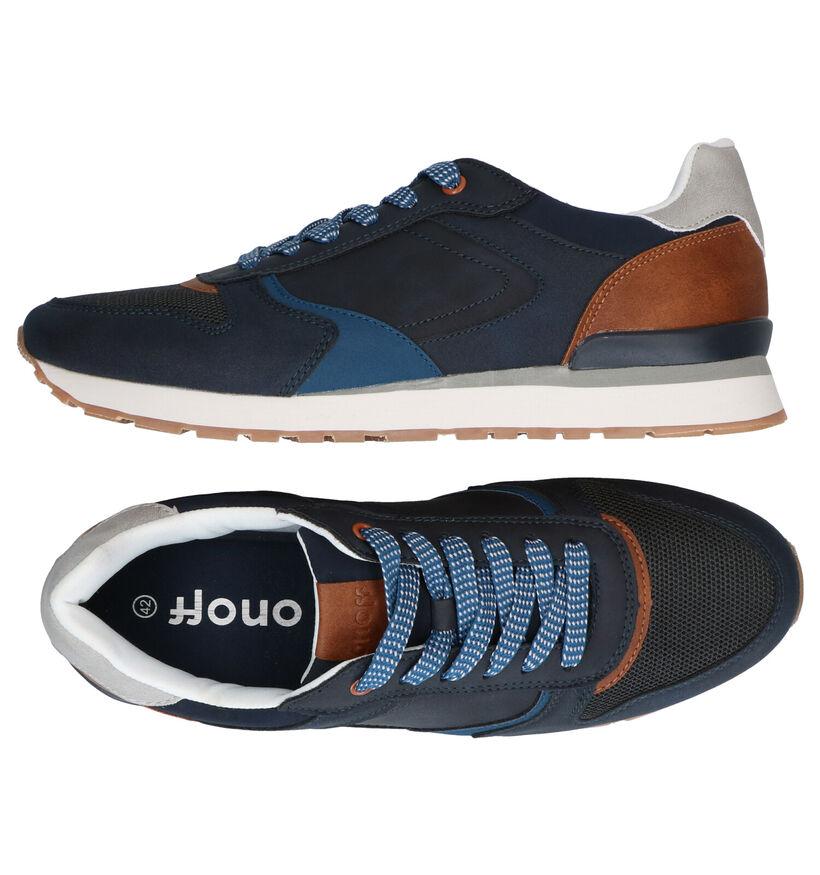 ONOFF Baskets basses en Bleu foncé en simili cuir (291968)