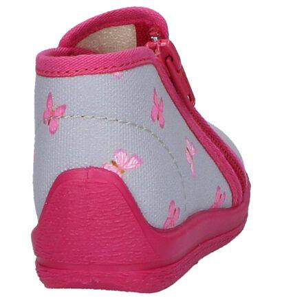 Bellamy Dargo Babypantoffels Grijs met Roze, Grijs, pdp