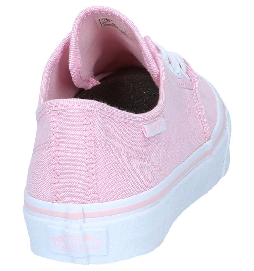 Vans Camden Stripe Zwarte Skateschoenen in stof (253465)