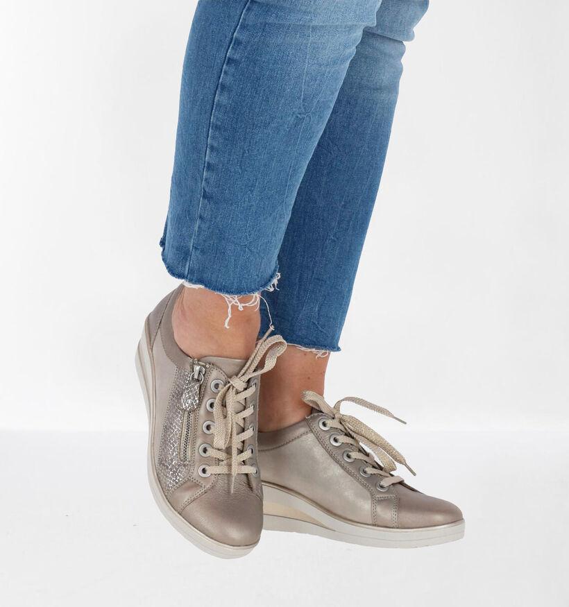 Remonte Chaussures à lacets en Or en cuir (266871)