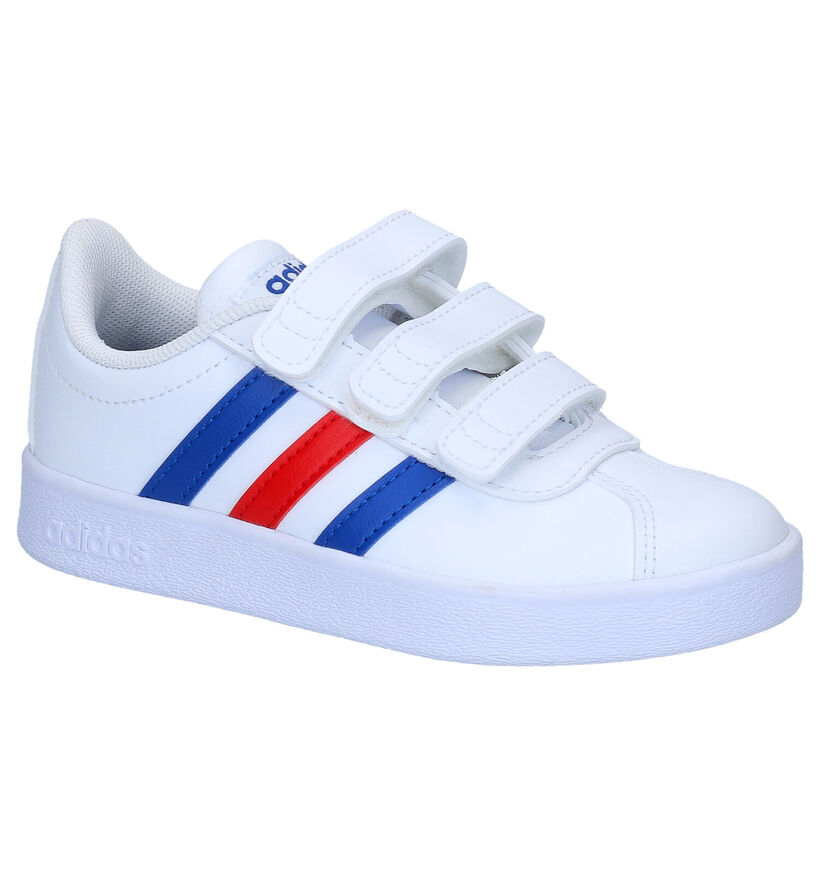 adidas VL Court 2.0 Witte Sneakers in kunstleer (273460)