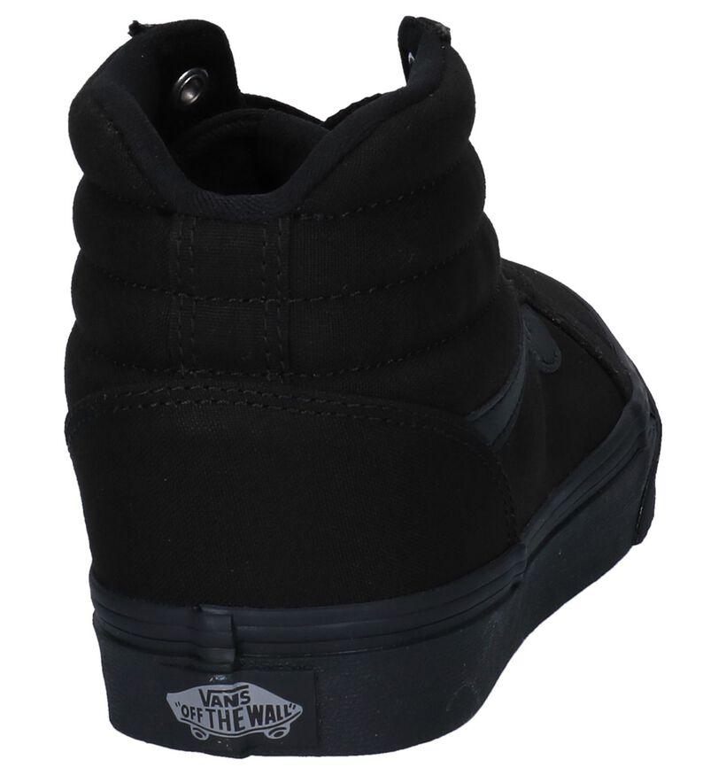 Vans Ward Hi Baskets en Noir en textile (264188)