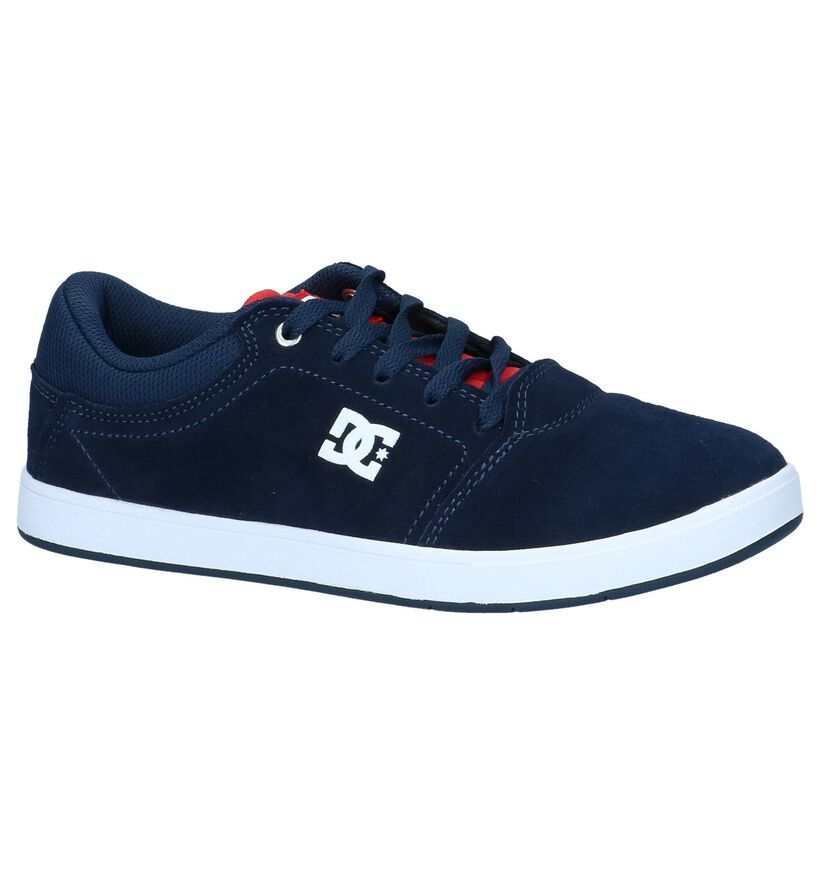 DC Shoes Baskets de skate en Bleu foncé en daim (235131)