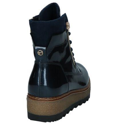 Donkerblauwe Laké Boots Tamaris TOUCH it in kunstleer (226712)