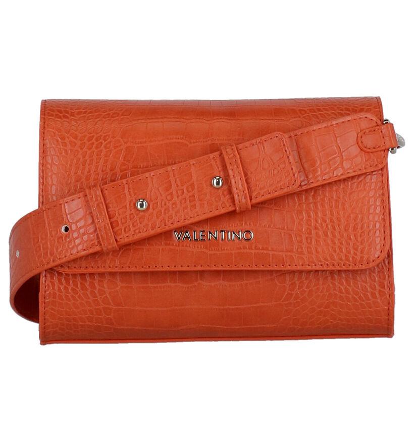 Valentino Handbags Summer Memento Oranje Crossbody Tas in stof (275826)