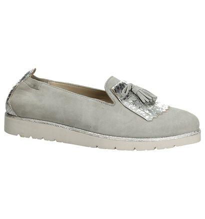 Julia Grey Chaussures slip-on en Taupe en daim (191751)
