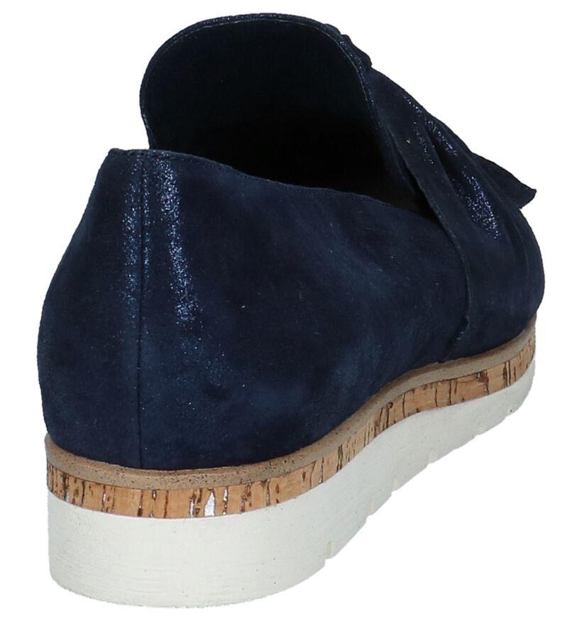 Marco Tozzi Chaussures slip-on en Bleu foncé en nubuck (214457)