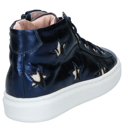 Milo & Mila Chaussures hautes en Bleu foncé en imitation cuir (260803)